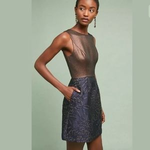 Anthropologie Hutch Lina Metallic Dress NWT